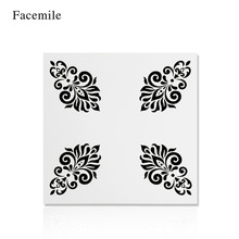 Facemile 13*13 Christmas Flower Pattern Cake Stencil For Painting Scrapbooking Stamping Album Paper Cards Cake Template  55011