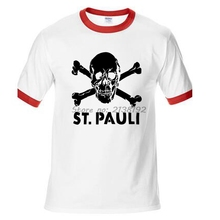 ST PAULI Man T-Shirt Raglan Sleeve Skate Clothes Streetwear T Shirt Men New Funny Homme Brand Clothing High Quality Male t(China)
