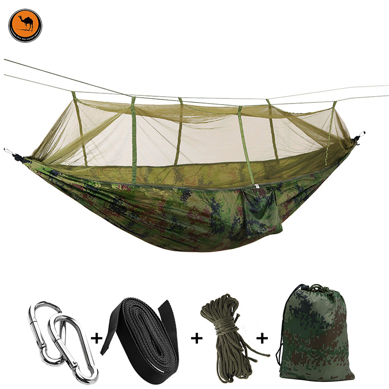 Travel Bug Net Camping Hammock | 300kg Load Capacity,(275 x 140 cm) Breathable 2 Person Outdoor Travel Hammock for Camping<br>