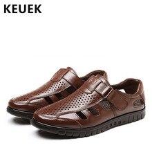 Luxus Classics Sommer Schuhe Männer Sandalen Mode Männlichen Alias Strand  Schuhe Weichen Boden Atmungsaktive Leder Sandalen 6b20bdcc91