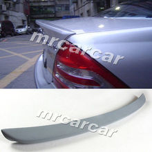 W203 PU Unpainted Grey Primer  Rear Trunk Boot Spoiler Lip Wing Fit For Benz W203 2001 - 2006 Car Tuning Parts