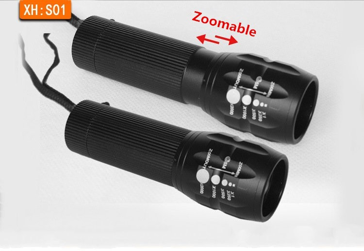 High Power Torch Zoomable mini LED Flashlight Torch Light For Camping Torch lanterna Waterproof Powerful 3*AAA Floodlight