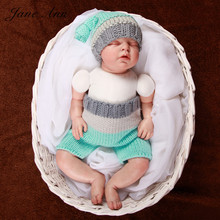 Newborn baby photo accessories photography props handmade crochet babyf free knitting  patterns elf knot beanies +pants