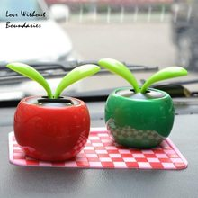 Solar apple originality Car furnishing articles Car accessories decoration Solar energy and environmental protection