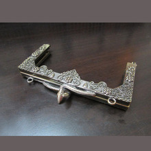 9.5cm Antique Bronze Purse Frame - Snake Kiss Lock Wholesale Fashion Antique Brass Metal Purse Handle
