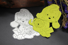Puppy Teddy Dog Metal Cutting Dies Scrapbooking Paper Cards Decor DIY(China)