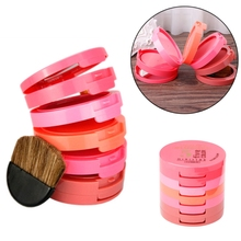 5 colors Face Makeup blusher Palette With Brush Waterproof Concealer Blush Cheek Color Blusher Face Makeup cosmetic set(China)