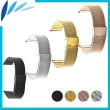 Stainless Steel Watch Band 16mm 18mm 20mm 22mm 24mm Armani Hook Clasp Strap Loop Wrist Belt Bracelet Black Gold Silver