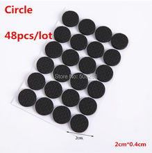 48pcs/set Rubber Antiskid Shockproof Sticker Tape Mute Pads Chair Non-slip Pad Desk Feet Mats Furniture Pad Cover Circle HY761