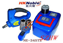 HKnoble Car hydraulic jack with LED Light + Electric wrench, Max top-heavy 1200KG Min/Max height: 145/345MM, 350N.m Max torque