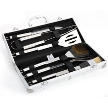 BBQ Grill Tools Set 6 Pieces Stainless Steel BBQ Utensils & Luxury Presentation Storage Case -Outdoor Barbecue Grill Tool Kit(China)