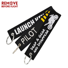 One Piece Novelty Keychain Launch Key Chain Keychains for Motorcycles and Cars Key Tag Embroidery OEM Never Give Up Keychain(China)