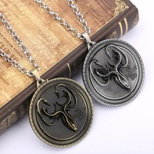 H&F Game of Thrones The Song Of Ice And Fire House Greyjoy of Pyke metal coin chocker pendant necklace Cosplay Accessories(China)