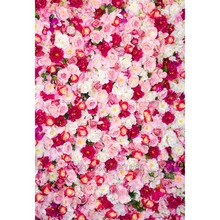 Seamless Vinyl Photography Background Pink Red Rose Flower Floral Computed Printed Children Backdrops for Photo Studio S-1359(China)