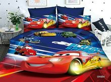 RED Amazing cars bedding bed linen sheet sets children's kids bedspreads bedlinen 3/4pcs cartoon comforter duvet covers
