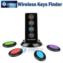 Smart Remote Wireless Keys Finder Anti Lost Alarm System with Led Flashlight 1 RF Transmitter and 4 Receivers KF104