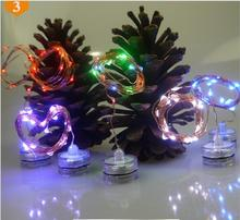 2M 20leds IP65 Mini Waterproof Flower Light Submersible Lamp outside led decoration light For Christmas Holiday Wedding Party