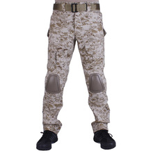 Camouflage military Combat pants men trousers tactical army pants with Removable knee pads Desert Digital(China)