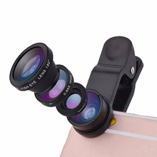 Original mobile phone lenses fisheye Lens 3 in 1 fish eye wide angle macro camera lens for iPhone Samsung Huawei Sony Nokia HTC