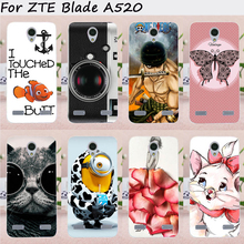 Mobile Phone Cases For ZTE Blade A520 Cover A 520 BA520 5.0 inch Case Soft TPU Silicon Cool Cute Style DIY Painted Skin Bag