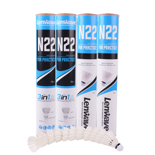 Lenwave Three-stage Badminton Shuttlecock Goose Feather N22 Especially Hard And White Foam Ball Head For Entertainment Play