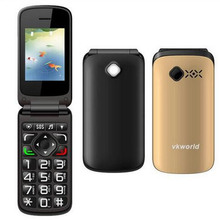 "New Original Vkworld VK Z2 Mobile Phone 2.4 "" Qwerty Keyboard Long Standby Loud Sound Flishlight Flip Phone Old Man Elder Phone"
