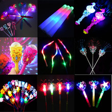 LED Flashing Children Girls Fairy Magic Wand Sticks Light up Princess Fancy Dress Prop Birthday Wedding Glow Party Supplies
