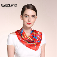 Luxury Women Silk Scarf Square Casual Printed Patterns Necklace Scarves Fashionable Foulard Femme Soie De Marque 55*55 CM