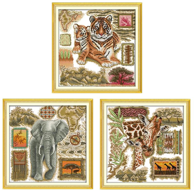 Вышивка с африканскими животными 48
