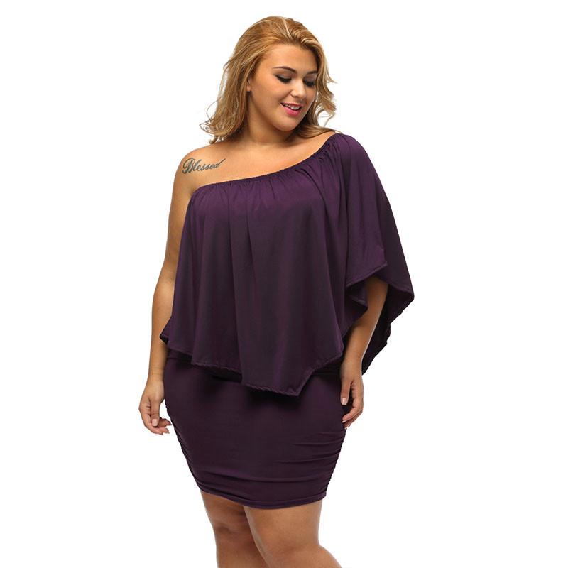 17 Women Plus Size Layered Dress Red Off Shoulder Femme Sexy Autumn Dresses Large Big Size Women Casual Mini Dress XXXL XXL 14