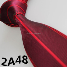 XINCAI Cheap Sell !2018 Latest Style Fashion/Business/Casual Wine Red/Silver Striped/Bordure ties for groom in weddings/silk tie(China)