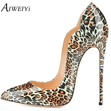 AIWEIYi Women's Stiletto High Heels Patent Leather Pump Shoes Summer Style Shoes Woman Platform Pumps Black Ladies Wedding Shoes