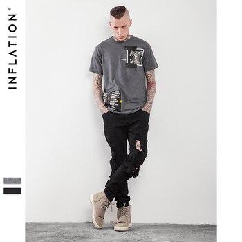 INFLATION Streetwear Boutique Hommes graphique T chemises 2017 Nouveau Style 100% Coton À Manches Courtes T Pour Les Hommes