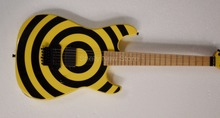 Shelly new store factory custom Kramer banana headstock guitar yellow circle 6 string electric guitars musical instruments shop