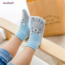 Children Five Fingers Socks Super Cute Summer Thin Mesh 3-12 Year Kids Split Socks Cotton Short Sports Sweat Boy Girl Toe WM-004(China)