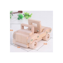 Wooden Export TONKA Group Disassembly Assembly Model Car Wooden Toys Assembled Car Educational Toys(China)