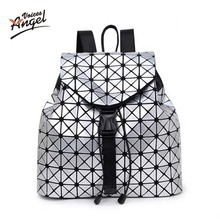 Angel Voices Women Backpack 2017 BaoBao Backpack Female Fashion Girl Daily Backpack Geometry Package Sequins Folding Bags Sac