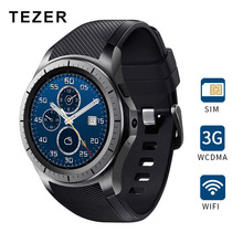 TEZER GW10 Dial Call 512MB+4GB RAM Heart Rate Monitor smart Watch for Android 5.1 3G / WiFi / GPS SIM Card Bluetooth music Video