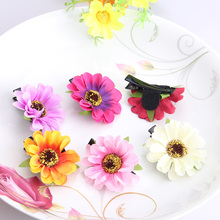 2017 New Children Baby Headwear Girls Chrysanthemum Hairpins Kids Hair Accessories Barrette Daisy Princess Hair Clip