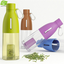 1PC Bud Shaped Filter Plastic Tea Tumbler 490ML Sports Water Bottle Outdoors Portable Travel Cup