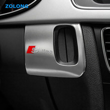 Buy Stainless Steel Auto Interior Car Keyhole Decorative Cover Trim Chrome 3D Sticker AUDI A4 B6 B8 B7 B5 Sline RS Accessories for $7.48 in AliExpress store