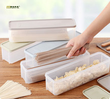 1PC Refrigerator Plastic Box with Cover Japanese Noodles Storage Box Food Fresh-keeping Box Kitchen Coarse Cereals Case LF 049