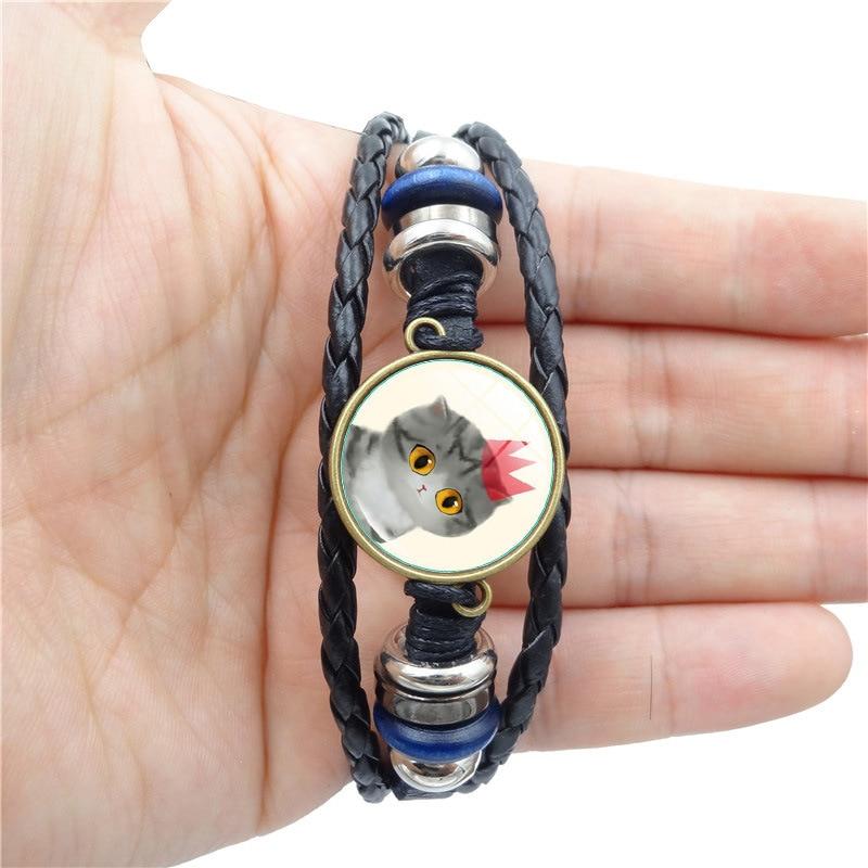 NEW 2018 Simple Fashion Cute cat time gem bracelet...