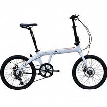 "JAVA FOLDING TT-7S-D dual- disc 7 speed aluminum folding bicycle Folding Bike Folding Bicycle 20"" Free Shipment"