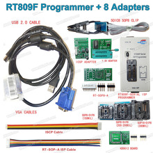 RT809F Serial ISP Programmer Tool +8 Adapters +1.8V Adapter +SOP8 Test Clip +ISP cable EPROM FLASH VGA ISP Free Shipping(China)