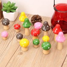 Brand New 3 pcs/Set Wood Mushrooms Miniature Fairy Garden Home Decoration Craft Micro Landscape Decor DIY Gift Moving Forest(China)