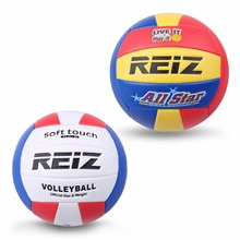REIZ Official Size 5 Volleyball Ball Soft Touch Volley Ball Volei PU Leather molten volleyball balloon Outdoor Training Handball(China)