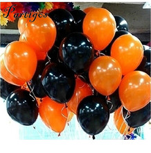 30pcs/lot 10inch Black orange Latex Helium Balloon for Wedding Birthday Party Children's Day Decoration Event Party Supplies(China)