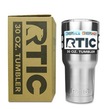 30OZ RTIC Tumbler Cups 304 Stainless Steel 30 oz RTIC Rambler Cooler Vacuum Insulated Vehicle Coffee Beer Mug Cups Sliver