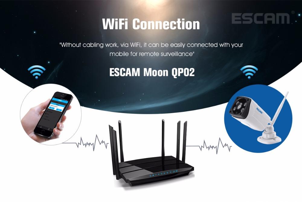 Escam Moon QP02 2MP HD 1080P WIFI Alarm Camera Outdoor Bullet IR-Cut 180 degree Security ip Camera Support Max 64G TF card (6)